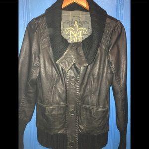 Mackage leather/Wool jacket